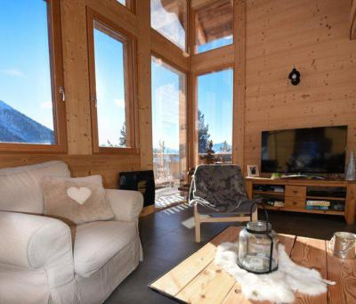 Rent in ski resort 5 room duplex chalet 10 people - Chalet Loan - Montgenèvre - Living room