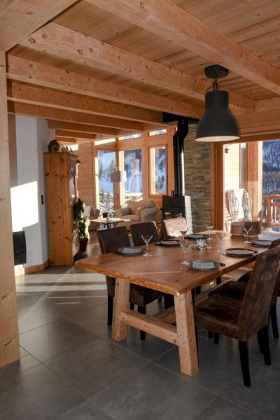 Rent in ski resort 5 room duplex chalet 10 people - Chalet Loan - Montgenèvre - Table
