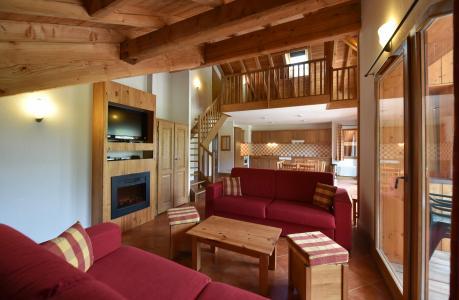 Rent in ski resort Résidence Club MMV le Hameau des Airelles - Montgenèvre - Living area