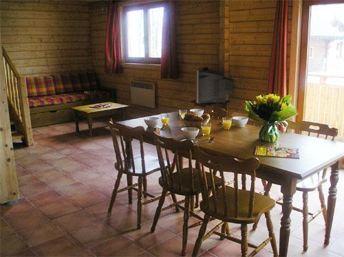 Location au ski Chalet 3 pièces 6 personnes - Les Chalets Du Bois De Champelle - Morillon - Coin repas