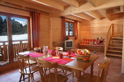 Location au ski Chalet 3 pièces 6 personnes - Les Chalets Du Bois De Champelle - Morillon - Séjour