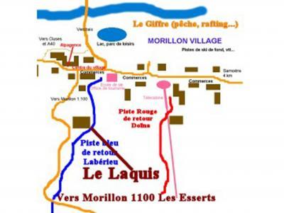 Location au ski Chalet 4 pièces 8 personnes - Chalet Grand Massif - Morillon - Plan