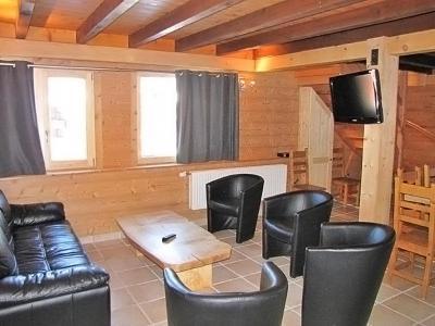 Rent in ski resort Chalet Haute-Savoie - Morillon - Living room