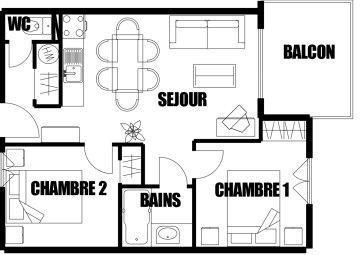 Location au ski Appartement 3 pièces 6 personnes (07) - Residence Refuge De L'alpage - Morillon