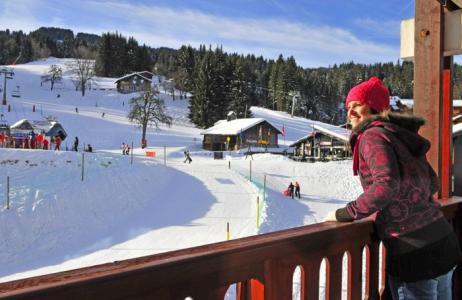 Location au ski Residences Du Plateau Des Esserts - Morillon - Extérieur hiver