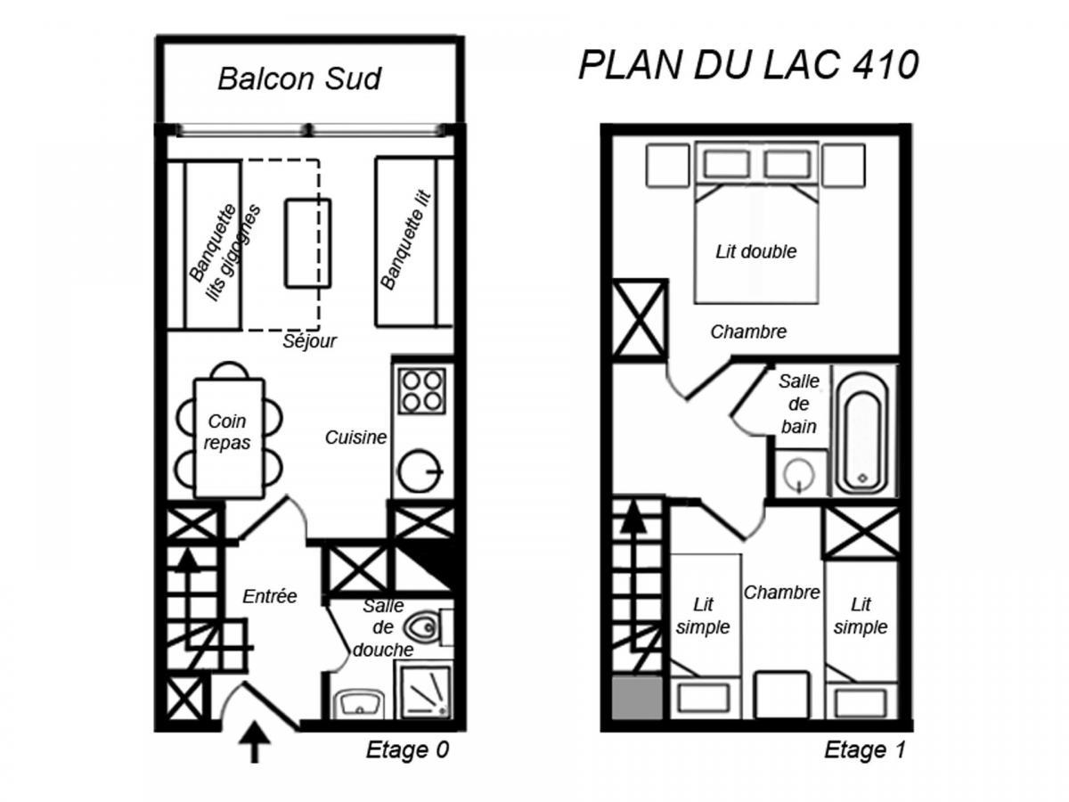 Location au ski Appartement duplex 3 pièces 6 personnes (410) - Residence Plan Du Lac - Mottaret - Douche