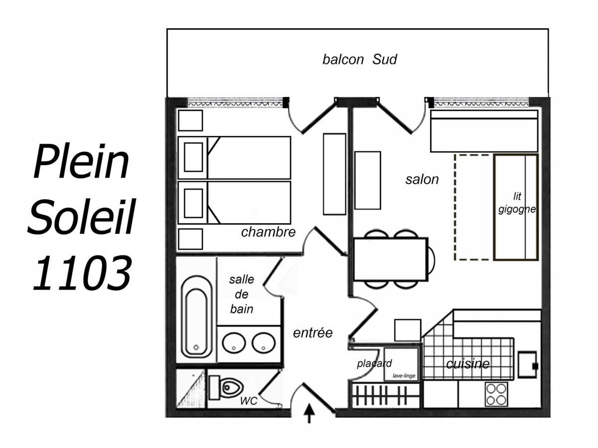 Location au ski Studio 3 personnes (700) - Residence Plein Soleil - Mottaret