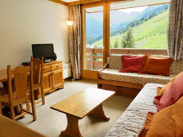 Location au ski Appartement 2 pièces 5 personnes (909) - Residence Plein Soleil - Mottaret - Canapé-gigogne