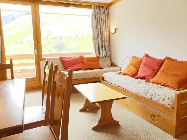 Location au ski Appartement 2 pièces 5 personnes (909) - Residence Plein Soleil - Mottaret - Canapé-lit