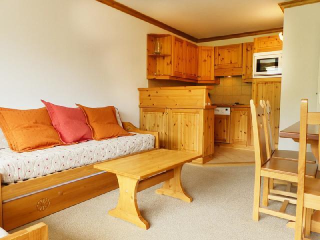 Location au ski Appartement 2 pièces 5 personnes (909) - Residence Plein Soleil - Mottaret - Coin repas