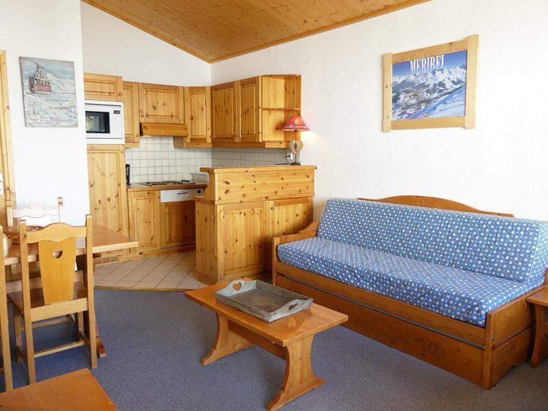 Location au ski Appartement 2 pièces 5 personnes (910) - Residence Plein Soleil - Mottaret - Canapé-lit