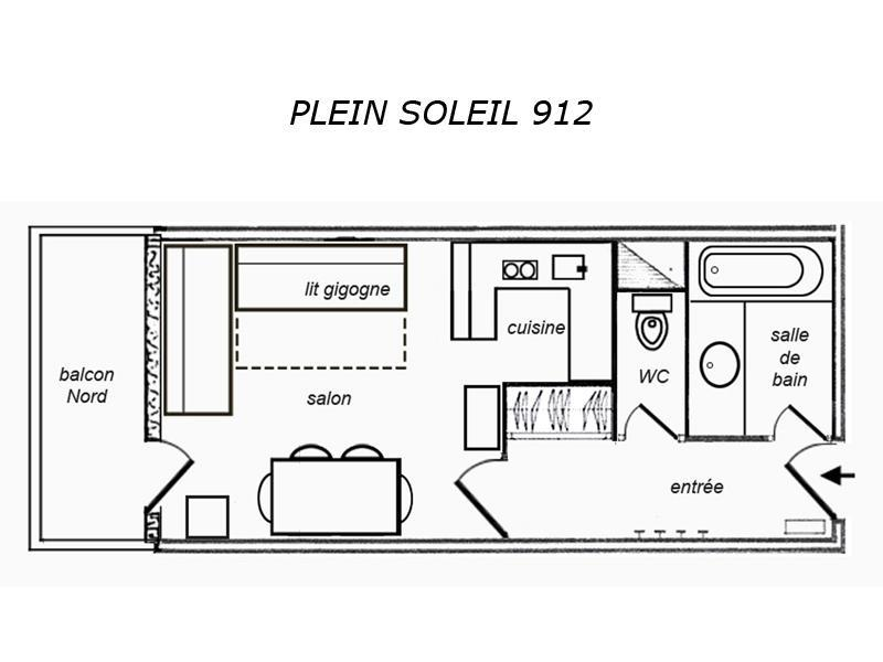 Location au ski Studio 2 personnes (912) - Residence Plein Soleil - Mottaret - Salle d'eau