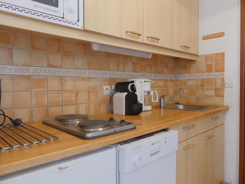 Location au ski Studio 3 personnes (600) - Residence Plein Soleil - Mottaret - Kitchenette