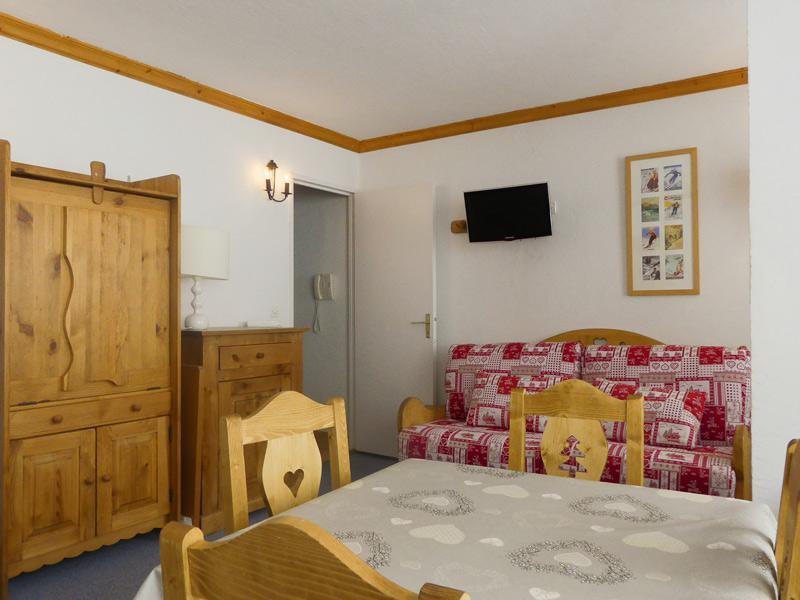 Location au ski Studio 3 personnes (600) - Residence Plein Soleil - Mottaret - Séjour
