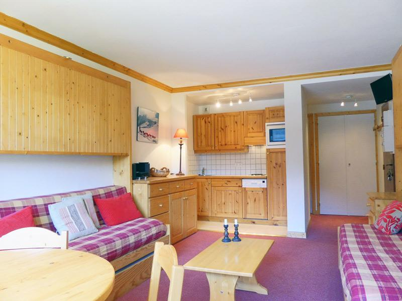 Location au ski Studio 3 personnes (901) - Residence Plein Soleil - Mottaret - Lits gigognes