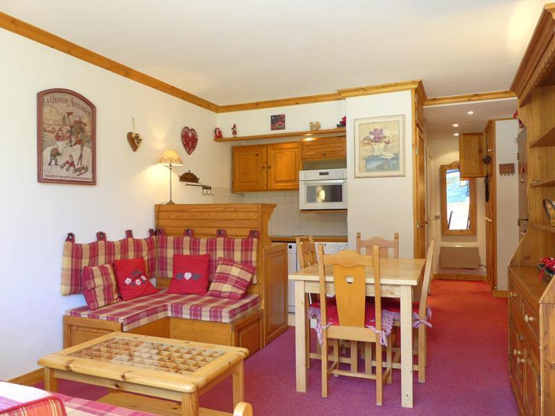 Location au ski Studio cabine 3 personnes (801) - Residence Plein Soleil - Mottaret - Séjour