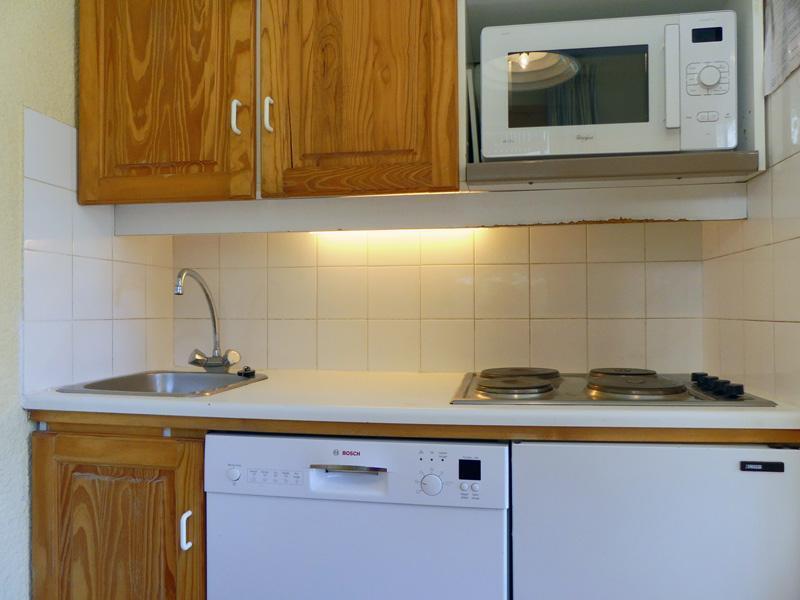 Location au ski Appartement 2 pièces 4 personnes (B10) - Residence Alpinea - Méribel-Mottaret - Kitchenette