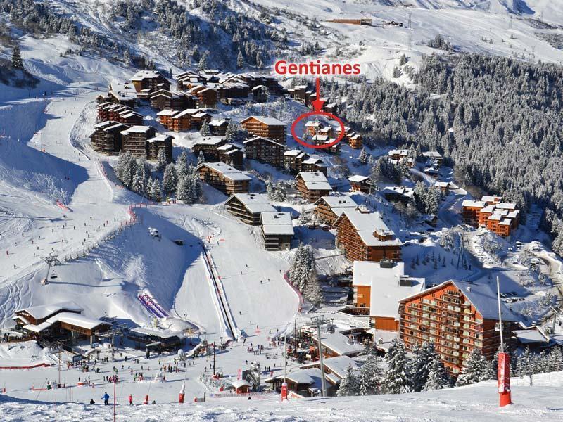 Location au ski Residence Gentianes - Mottaret