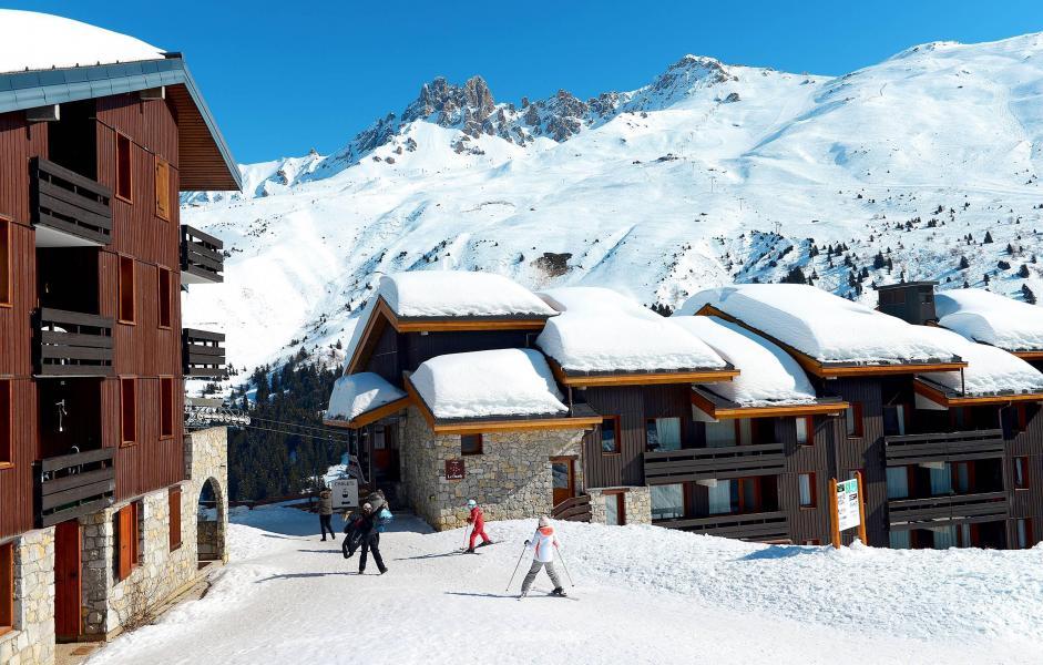 Location au ski Residence Le Hameau Du Mottaret - Méribel-Mottaret - Extérieur hiver
