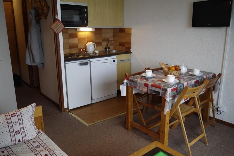 Location au ski Studio 4 personnes (01) - Residence Le Lac Blanc - Méribel-Mottaret - Cuisine