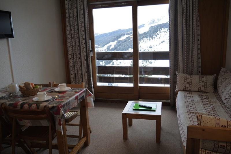 Location au ski Studio 4 personnes (01) - Residence Le Lac Blanc - Méribel-Mottaret - Lits superposés