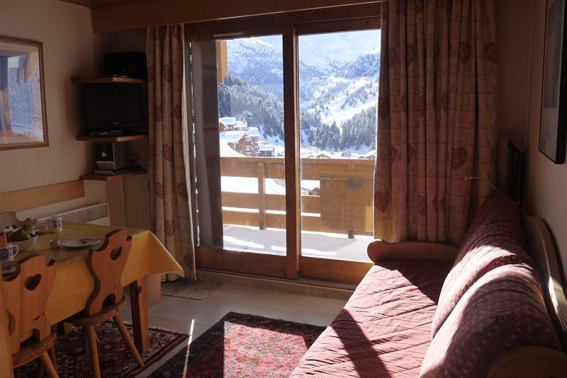 Location au ski Appartement 2 pièces 4 personnes (002) - Residence Les Plattieres - Méribel-Mottaret - Séjour