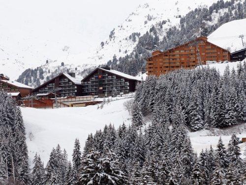 Location au ski Residence Maeva Les Bleuets - Mottaret - Extérieur hiver