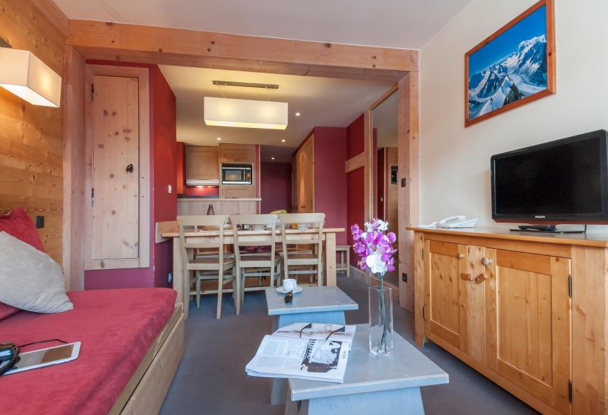 Location au ski Residence P&v Premium Les Crets - Mottaret - Coin repas