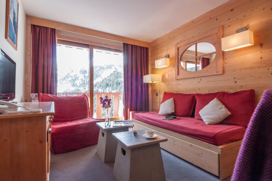 Location au ski Residence P&v Premium Les Crets - Mottaret - Coin séjour