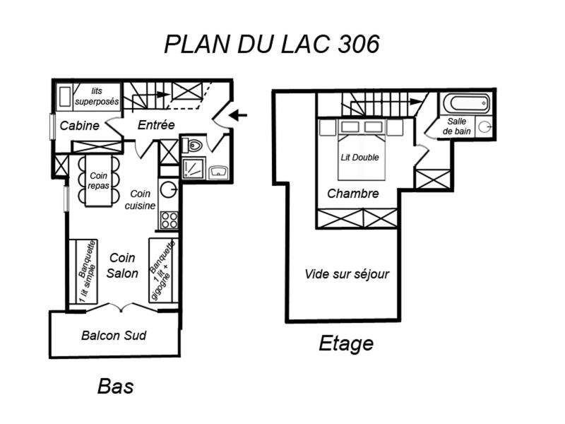 Location au ski Appartement duplex 3 pièces 6 personnes (306) - Residence Plan Du Lac - Méribel-Mottaret