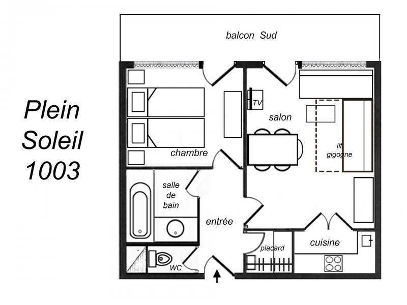 Location au ski Appartement 2 pièces 5 personnes (1003) - Residence Plein Soleil - Méribel-Mottaret