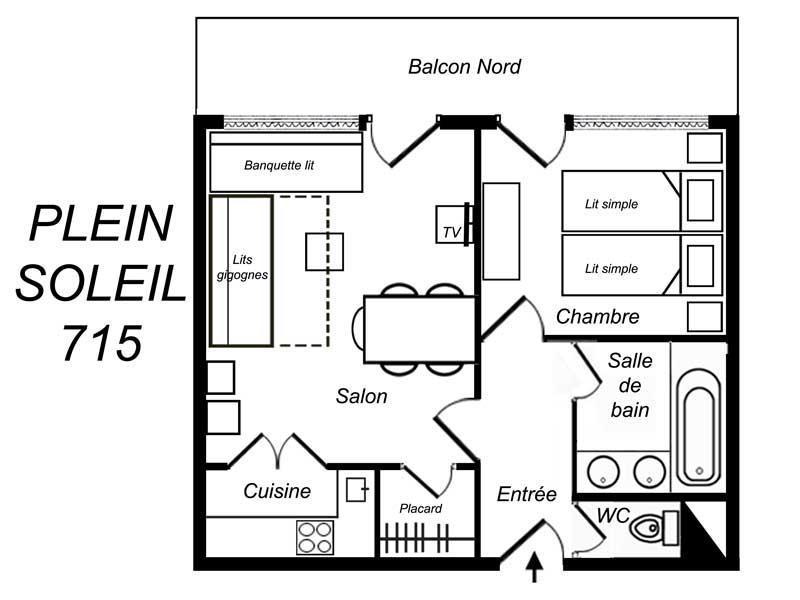 Location au ski Appartement 2 pièces 5 personnes (715) - Residence Plein Soleil - Méribel-Mottaret