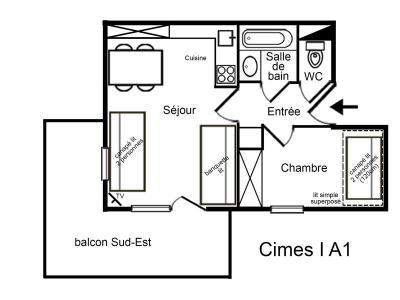 Location au ski Appartement 2 pièces 5 personnes (A1) - Residence Cimes I - Mottaret - Four