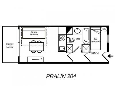 Location au ski Studio coin montagne 4 personnes (204) - Residence Le Pralin - Mottaret