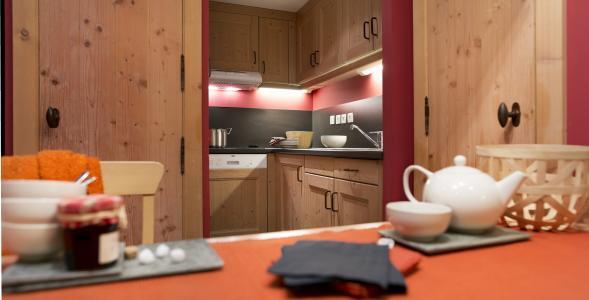 Location au ski Residence P&v Premium Les Crets - Mottaret - Kitchenette