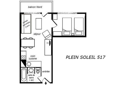 Location au ski Appartement 2 pièces 4 personnes (517) - Residence Plein Soleil - Mottaret
