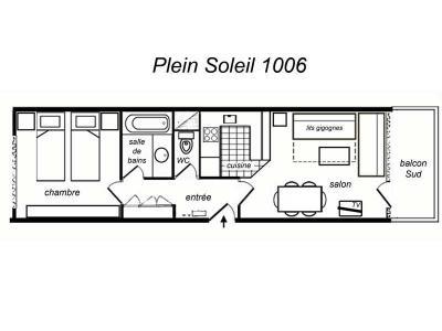 Location au ski Appartement 2 pièces 5 personnes (1006) - Residence Plein Soleil - Mottaret