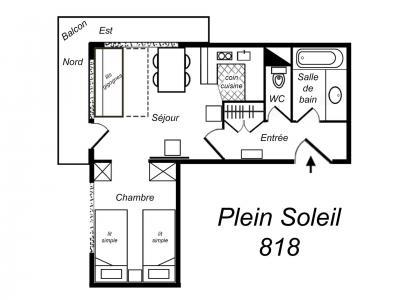 Location au ski Appartement 2 pièces 4 personnes (818) - Residence Plein Soleil - Mottaret - Cuisine ouverte
