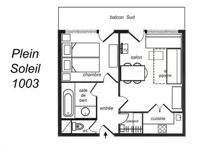 Location au ski Appartement 2 pièces 5 personnes (1003) - Residence Plein Soleil - Mottaret - Cuisine