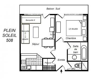 Location au ski Appartement 2 pièces 5 personnes (508) - Residence Plein Soleil - Mottaret - Cuisine