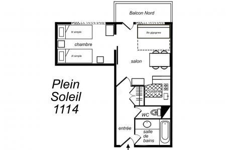 Location au ski Appartement 2 pièces cabine 6 personnes (1301) - Residence Plein Soleil - Mottaret - Cuisine