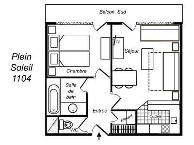 Location au ski Appartement 2 pièces 5 personnes (417) - Residence Plein Soleil - Mottaret - Extérieur hiver