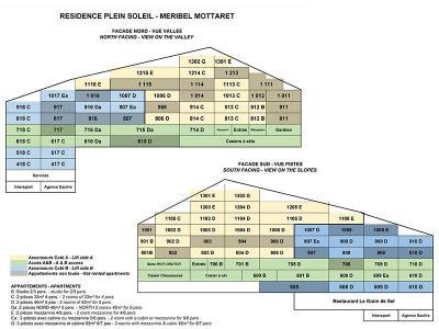Location au ski Residence Plein Soleil - Mottaret - Plan