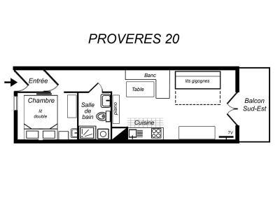 Location au ski Appartement 2 pièces 4 personnes (012) - Residence Proveres - Mottaret - Banquette