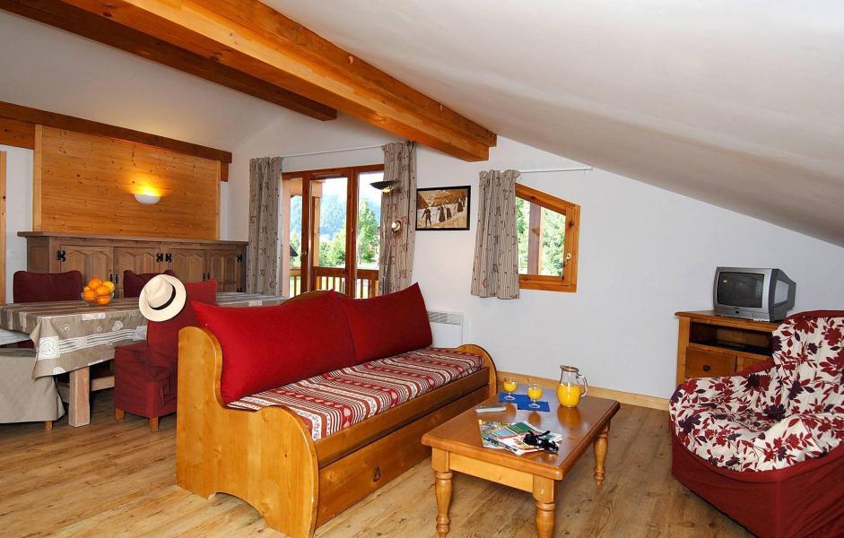 Location au ski Résidence les Belles Roches - Notre Dame de Bellecombe - Coin séjour