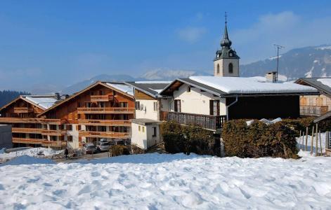 Location au ski Résidence le Village - Notre Dame de Bellecombe - Extérieur hiver