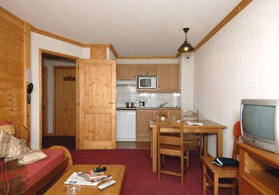Location au ski Residence Le Village - Notre Dame de Bellecombe - Kitchenette