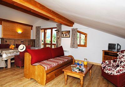 Location au ski Residence Les Belles Roches - Notre Dame de Bellecombe - Banquette-lit