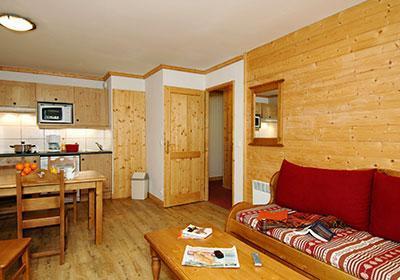 Location au ski Residence Les Belles Roches - Notre Dame de Bellecombe - Coin séjour