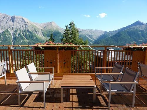 Location au ski Hotel Les Catrems - Orcières 1850 - Terrasse